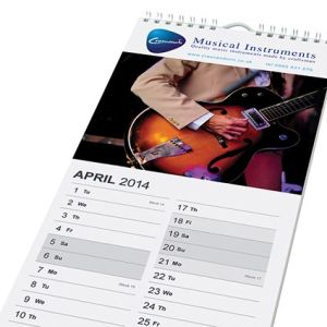 Custom calendars with printed company logos