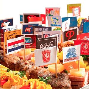 Branded Mini Gourmet Flags for restaurant