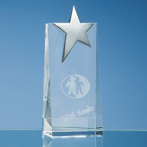Optical Crystal Rectangle Star Awards