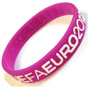 Promotional Raised Logo Wristbands for event merchandise