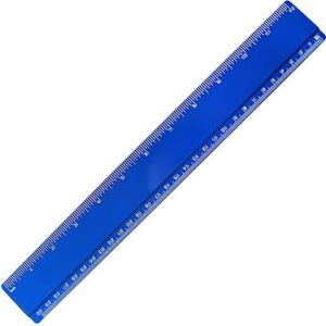 Plastic 30cm Ruler in Blue