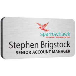 Branded name badges for business logos