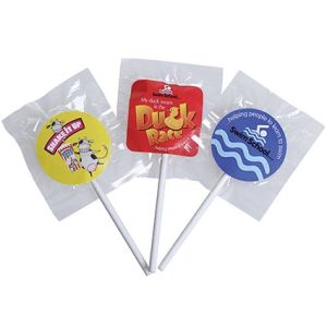 Custom branded lolly pops for childrens events