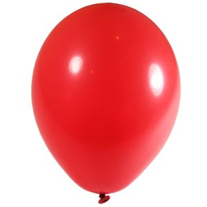 Promotional red party balloons with printing with logos
