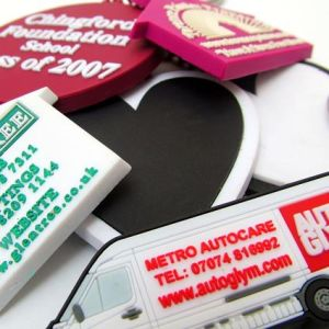 Promotional Custom Shaped Keyrings for Mobile Advertising
