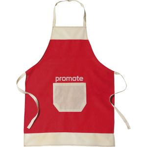 Promotional Cotton Apron has a great print area above the pocket for your campaign Logos