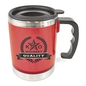 Promotional Double Wall Mug with logos