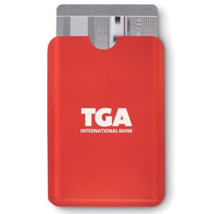 Promotional RFID Card Protectors with company logos