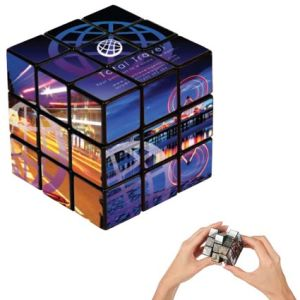 Rubik's cube with corporate branding