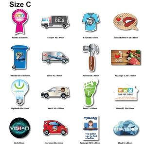 Matt Shaped Flexible Fridge Magnets