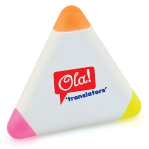 Small Triangle Highlighter in White
