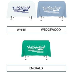 Customised Polyester Table Cloths for Marketing Ideas Available Colours