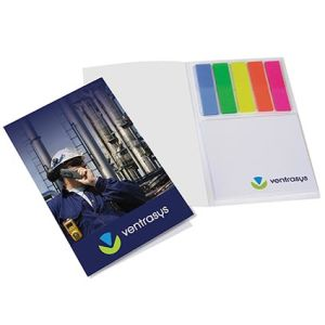 Corporate branded sticky notes for schools