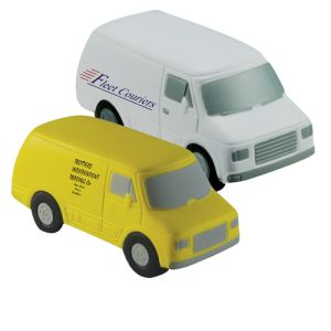 Custom Printed Van Shaped Stress Balls for Trader Advertising