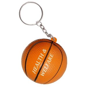 Stress Basketball Keyring in Orange/Black