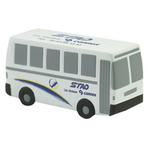 Branded Stress Ball Bus for Business Merchandise