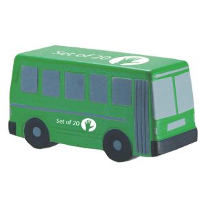 Printed Bus Shaped Stress Balls for Corporate Marketing