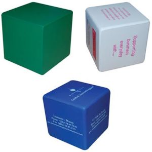 Branded Stress Ball Cubes for Campaign Gifts