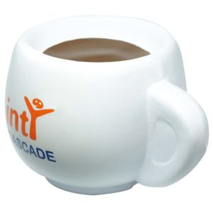 Stress Coffee Cup in Off White/Brown