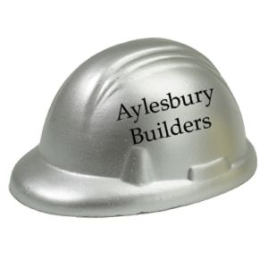 Branded stress ball hard hats for business gifts