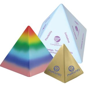 Branded Stress Pyramids for Office Merchandise