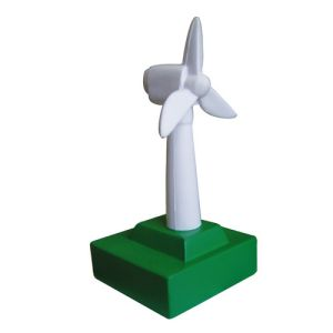 Stress Wind Turbine in Off White/ Green