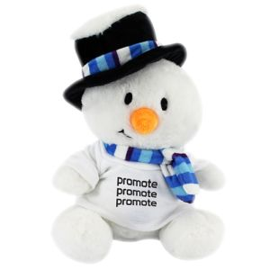 Wearing logo-printed T-shirts, these promotional teddies make great Christmas giveaways!