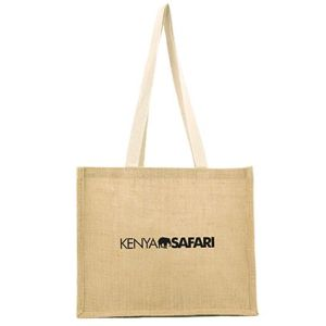 Branded shopper bag printed with company logos