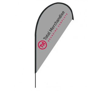 Branded banner flags for event merchandise