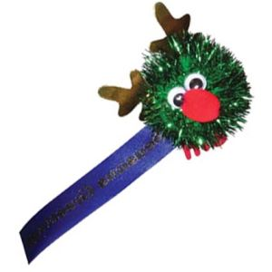 Promotional Glitter Reindeer Logobugs, are a great low cost promotional idea