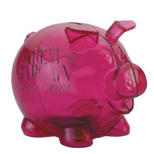 Branded Translucent Piggy Banks for Offices