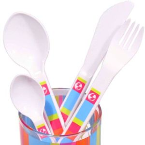 Branded Plastic Cutlery Set for Camping Merchandise