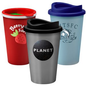 Printed take out cups for marketing merchandise