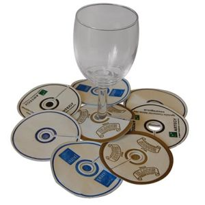 Promotional Coasters are great for advertising your company at catered events
