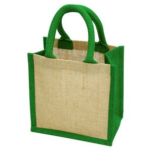 Wells Jute Tiny Gift Bags in Green