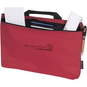 Printed document bags with corporate logos