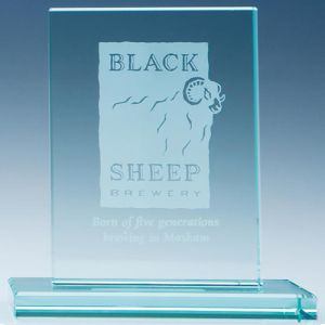 Rectangle Jade Glass Award in Jade Glass