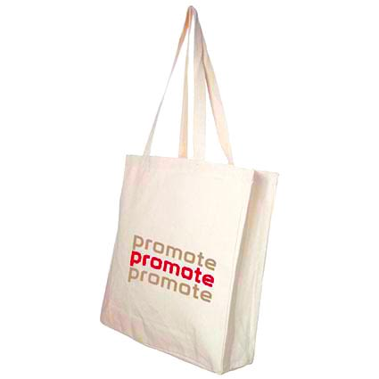 Printed canvas tote bags