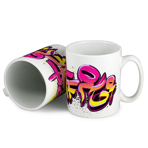 Full colour printed mugs