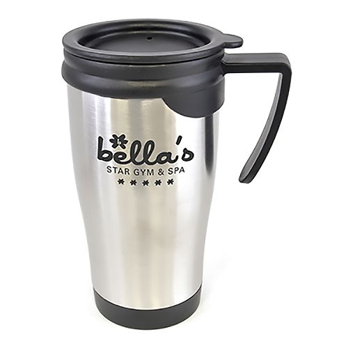 Branded metal travel mugs