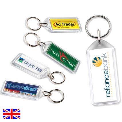 Promotional plastic & acrylic keyrings