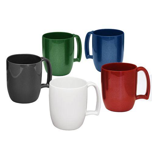 Printed plastic mugs