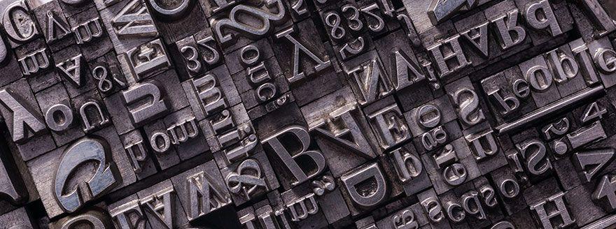 Promotional merchandise fonts