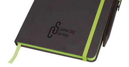 Debossed promotional notebook