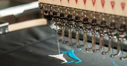 Promotional merchandise embroidery process