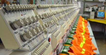 Promotional clothing embroidery process