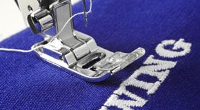 Embroidering process for promotional merchandise