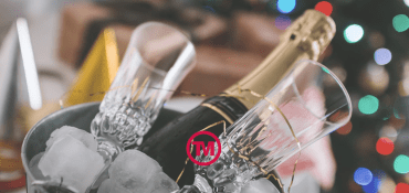 Start The Christmas Festivities With A Bottle Of Promotional Bubbly