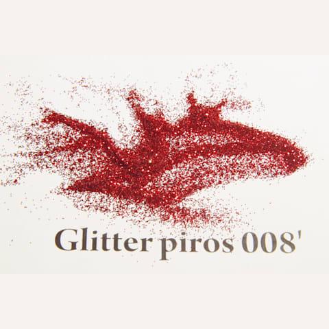 Glitter piros 008' 200 mikronos szemcseméret Glitter / Polyester Glitter