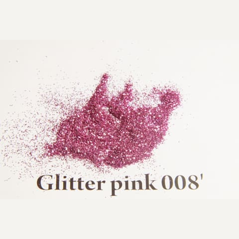 Glitter pink 008' 200 mikronos szemcseméret Glitter / Polyester Glitter